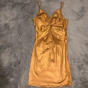 Short yellow orangish dress